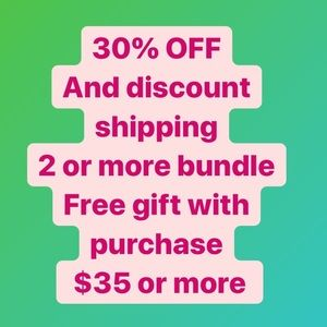 Free gift with purchase $35 or more